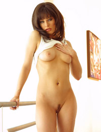 Nadia vasi just cant seem to keep her white panties on