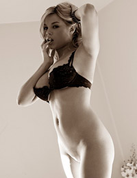 Brea lynn in a seductive black and white pictorial