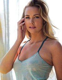 Courtney dillon removes her light blue top