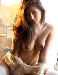 Shyla jennings glimmers in the sunlight